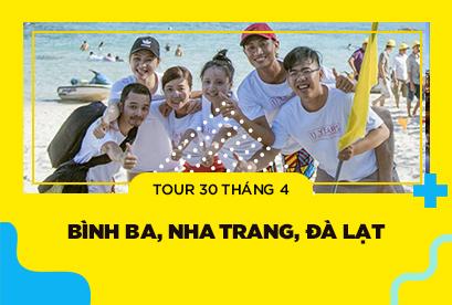 Tour Bình Ba, Nha Trang, Đà Lạt 30/4, rừng quốc gia bidoup, đồi chè cầu đất, cổng trời 4N4D