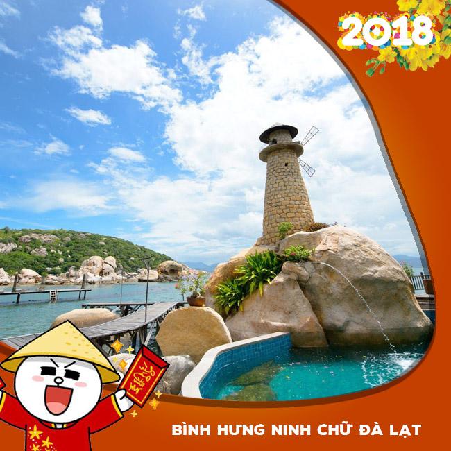 Tour Bình Hưng, Ninh Chữ, Đà Lạt Tết Âm Lịch 2018 4N4Đ