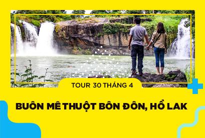 Tour Buôn Mê Thuột 30/4, Bôn Đôn, Hồ Lak, Vườn Quốc Gia Yokdon, Thác Dray Sap