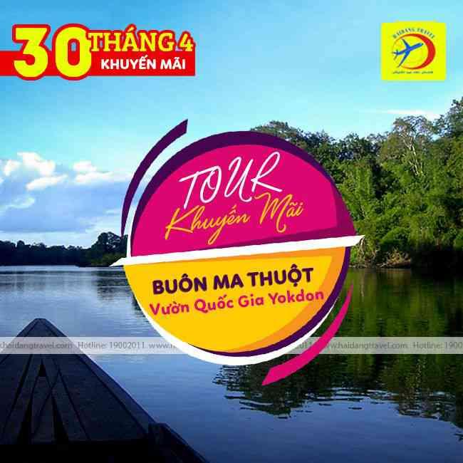 Tour Buôn Mê Thuột Khám Phá Vườn Quốc Gia Yokdon 30/4 Khuyến Mãi 3N3Đ