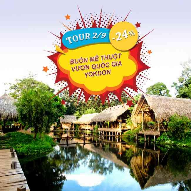 Tour Buôn Mê Thuột Khám Phá Vườn Quốc Gia Yokdon Lễ 2 Tháng 9 3N3Đ