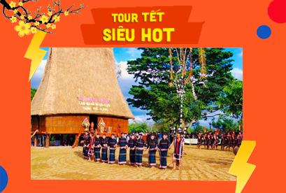 Tour Buôn Mê Thuột Tết Âm Lịch, Bôn Đôn, Hồ Lak, Vườn Quốc Gia Yokdon, Thác Dray Sap