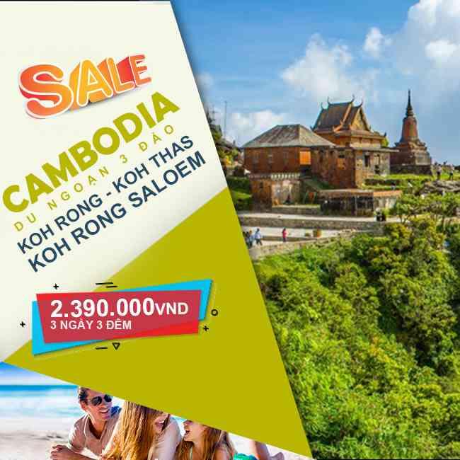 Tour Cambodia, 3 Đảo Koh Rong - Koh Thas- Koh Rong Saloem 3N3Đ