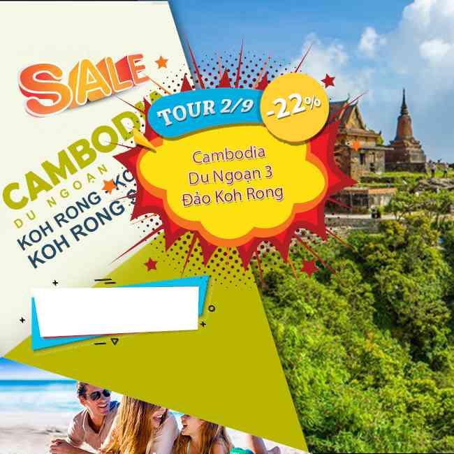 Tour Cambodia, Lễ 2 Tháng 9 Du Ngoạn 3 Đảo Koh Rong - Koh Thas- Koh Rong Saloem 3N3Đ