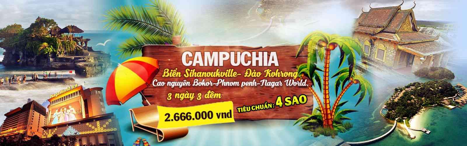 Tour Cambodia gia re 3 ngay 3 dem