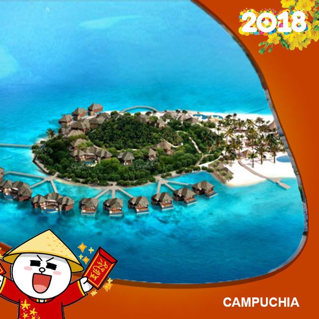 Tour Camphuchia, Du Ngoạn 3 Đảo Nổi Tiếng Tết Âm Lịch 2018  3N3Đ