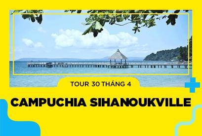 Tour Campuchia 30/4 Biển Sihanoukville, Kohrong Saloem, Kampot, Biển Kep, Thủ Đô Phnompenh