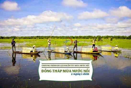 Tour Đồng Tháp mùa nước nổi 2N1Đ