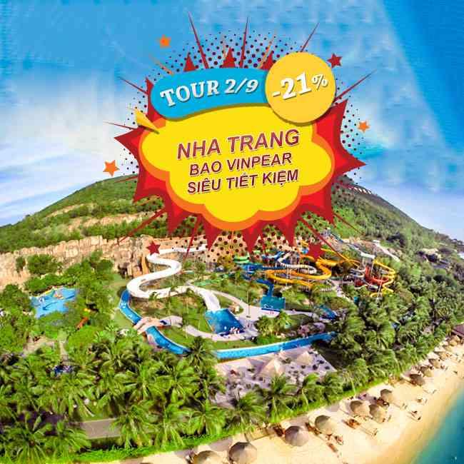 Tour Nha Trang Bao Vinpear Siêu Tiết Kiệm Lễ 2 Tháng 9 2N3Đ