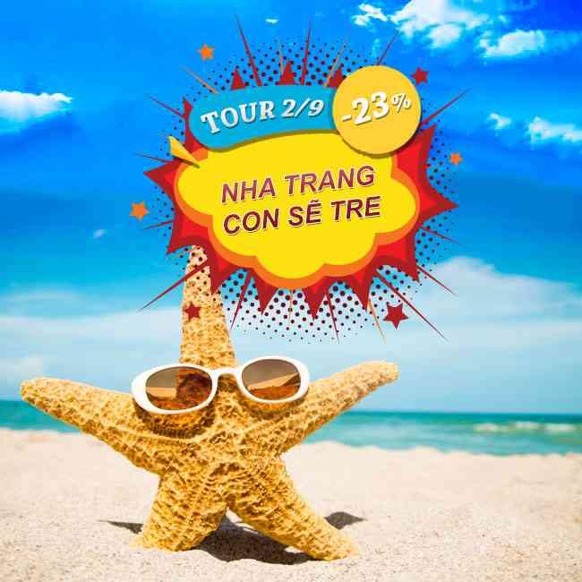 Tour Nha Trang Con Sẽ Tre, Bãi Dài, Vinpearland Lễ 2 Tháng 9 3N3Đ