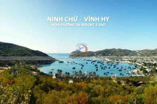Tour Ninh Chữ - Vĩnh Hy Khám Phá Bãi Đá Bảy Màu Resort 3sao 2N2Đ