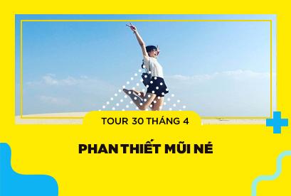 Tour Phan Thiết Mũi Né 30/4, Thác Giang Điền, Đồi cát Bàu Trắng, Công Viên Tượng Cát