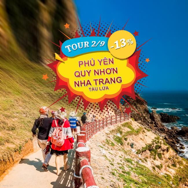 Tour Phú Yên, Quy Nhơn, Nha Trang, Lễ 2 tháng 9 Phương Tiện Tàu Lửa 3N4Đ