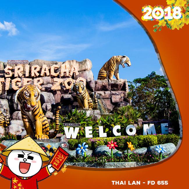 Tour Thái Lan Khuyến Mãi Tết Âm Lịch 2018 AIR ASIA FD 655