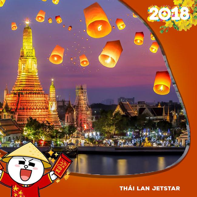 Tour Thái Lan Khuyến Mãi Tết Âm Lịch 2018 JETSTAR