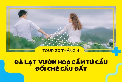 Tour Đà Lạt 30/4 thành phố ngàn hoa, Vườn Hoa Cẩm Tú Cầu, Đồi Chè Cầu Đất, Cổng Trời 3N2D