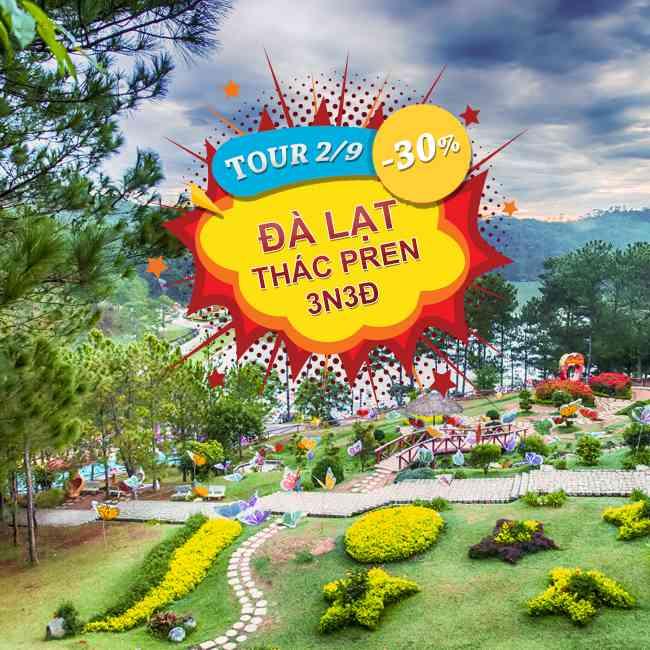 Tour Đà Lạt Những Ấn Tượng Khó Phai, Thung Lũng Tình Yêu Lễ 2 Tháng 9 3N2Đ