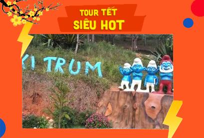 Tour Đà Lạt Tết Âm Lịch Làng Xì Trùm, Sunny Fram, Cầu Đất Fram, Coffe Mê Linh