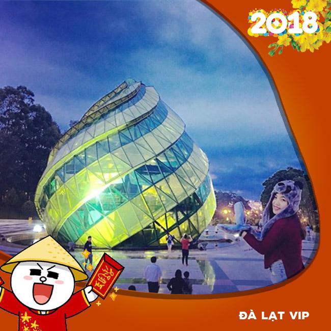 Tour Đà Lạt VIP, Du Thuyền Hồ Tuyền Lâm, Buffte Rau, BBQ Tết Âm Lịch 2018 3N3Đ