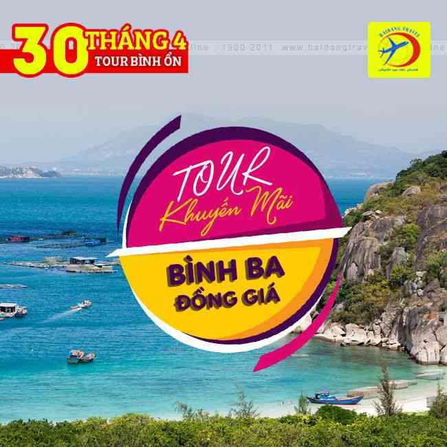 Tour đảo Bình Ba 30/4 đồng giá Khuyến mãi 2N2Đ