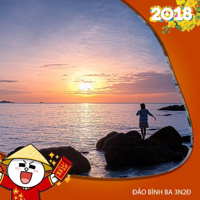 Tour Đảo Bình Ba VIP, Tặng Vé Tắm Khoáng Đón Tết Âm Lịch 3N2Đ