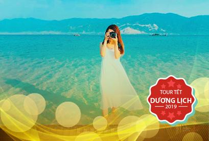 Tour Đảo Điệp Sơn Nha Trang Tết Dương Lich, con đường dưới biển, KDL Hòn Chồng