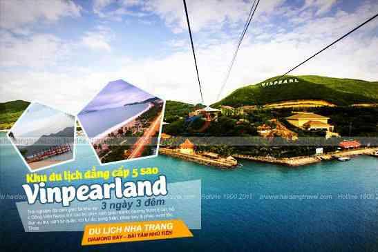 Tour du lịch Nha Trang Vinpearland, Đảo Hòn Tằm 3N3Đ