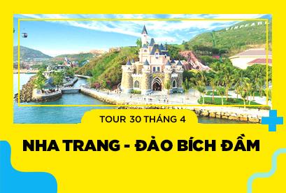 Tour du lịch Nha Trang  - Đảo Bích Đầm 30/4 VIP buffet Hải Sản 90 Món Hấp Dẫn