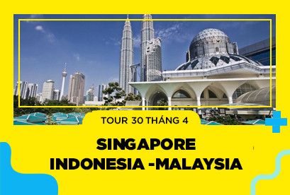 Liên Tuyến 3 Nước: Singapore - Indonesia -Malaysia 30/4, Tặng Vé Bảo Tàng Sáp Madam Tussauds