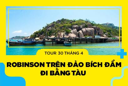 Tour Nha Trang 30/4 Robinson Trên Đảo Bích Đầm Buffet Hải Sản Cá Sấu Nguyên Con Tàu 5 Sao