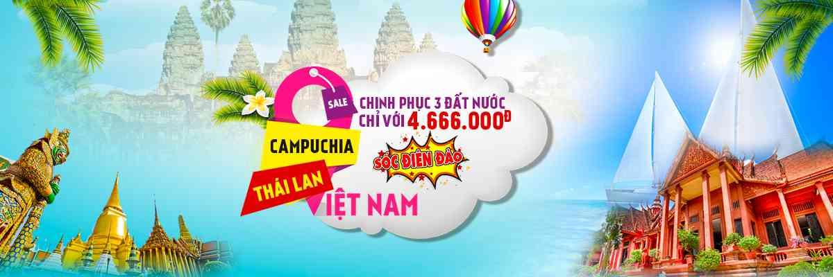 tour thái lan , campuchia, Việt Nam